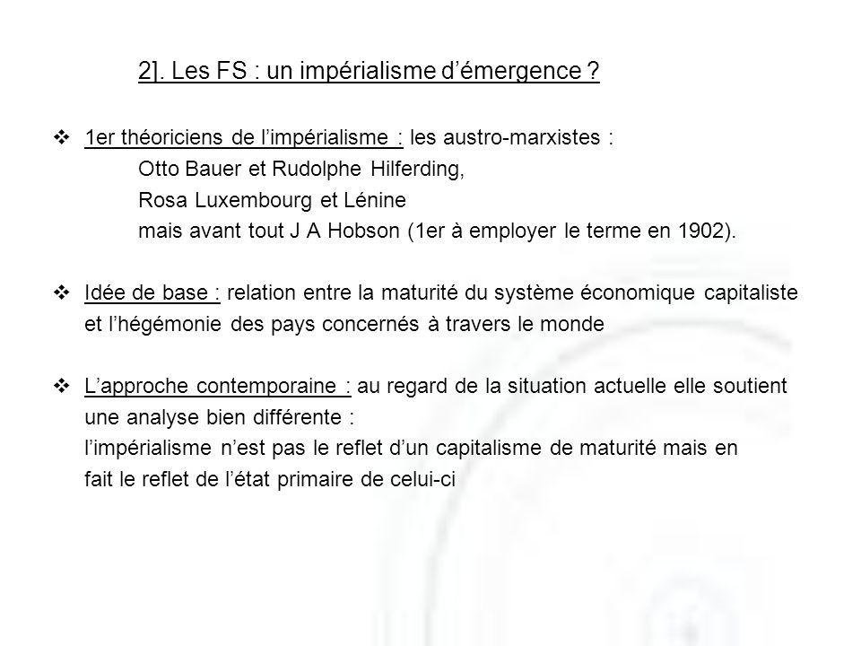 2]. Les FS : un impérialisme d'émergence